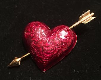 Heart and Arrow Pin