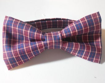 Red and Blue Adjustable Bow Tie