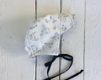 6-12 month, Half Brim Reversible Bonnet