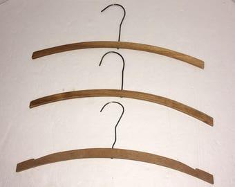 Vintage Wood & Metal Clothing Hangers Set of 4