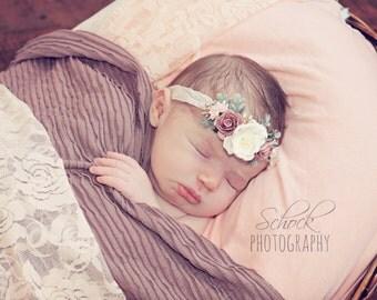 Ruffle Newborn Stretch Wrap Dusty Pink or Grey Newborn Ruffle Wrap Newborn Photo Prop Mini Ruffle Blanket