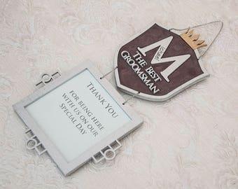 Bester Mann Geschenk Personalisierte Groomsmen Geschenk Hochzeits Geschenk Rahmen  Personalisierte Hochzeits