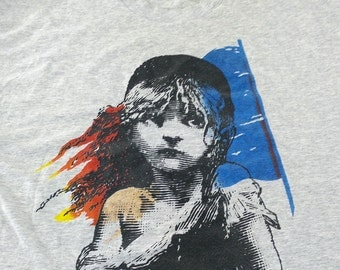 1986 Les Miserables London T Shirt Large Vintage Dewynters