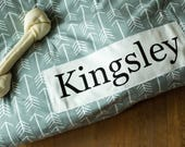 Dog Bed Cover - Gray Arrow Dog Bed - Personalized Dog Bed - Custom Dog Bed - Pet Beds - Gray Dog Bed Cover Dog Bed - ALL SIZES - Washable