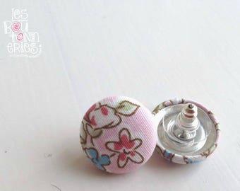 Earrings buttons - Black