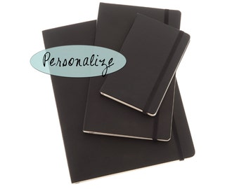 Personalized Journal or Notebook: Classic Black Moleskine