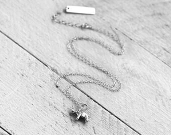 TINY ELEPHANT Necklace   silver
