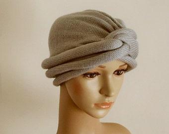 Volume turban hat, handmade twisted turban, winter hat for women, knitted fashion turban, women's winter turban hat, full turban
