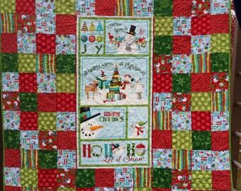 Ho ho ho let it snow patchwork quilt