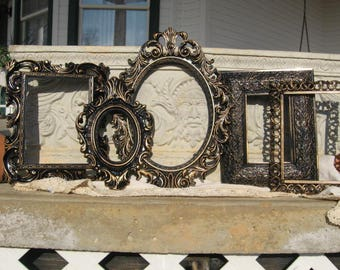 Picture Frame Set / Ornate Gallery Frames / Shabby Chic Picture Frames