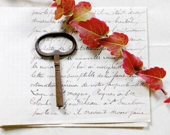 old rusty clock key