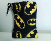 Batman Padded Pouch,  Drawstring Bag