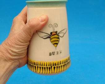 Buzz, Bee Beer Stein, Mug, Stein, Pint, Bee Ware, Father's Day