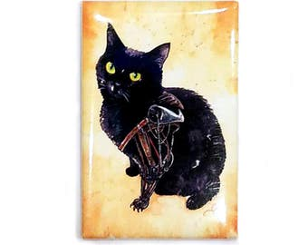 Furiosa Diesel Magnet: Watercolour Black Cat Mad Max