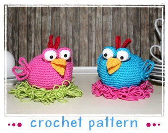 Chicken - Egg Sitter - Egg Cozy - Crochet Pattern