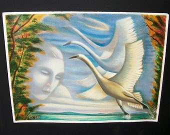 Rina Sutzkever Limited Edition Serigraph titled Fly Away Signed and Numbered