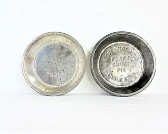 Vintage Table Talk Metal Pie Tins