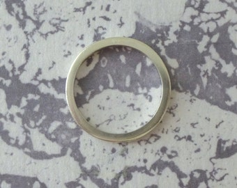 Sterling Silver Band Ring Square - 2mm wide - Sterling Silver - Square Band - Sterling Silver Square Ring