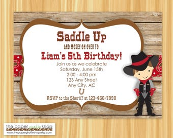 Cowboy Invitation | Cowboy Birthday | Cowboy Birthday Party Invitation | Cowboy Party | Western Birthday Party