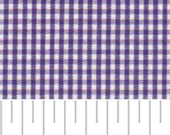 High Quality Fabric Finders Grape Gingham