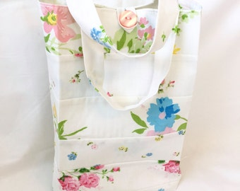 Gift bag made from vintage sheets