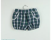 Green Plaid bloomers with pockets - Also available in red