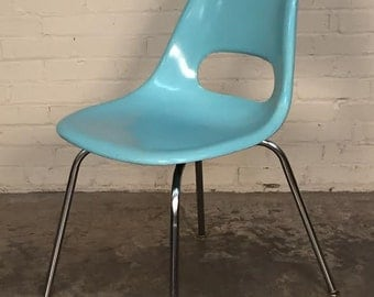Vintage Krueger Mid-Century Modern Fiberglass Shell Chair - SHIPPING NOT INCLUDED