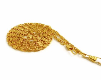 6 X chain golden  120 cm