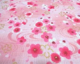 Japanese Traditional Fabric  Cherry Blossom Pink Fat Quarter