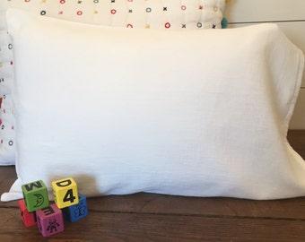 White Toddler Pillowcase Soft 100% Cotton Flour Sack Fabric Lightweight Shabby Travel Pillowcase Kids Toddler Birthday Party Gift Bedding