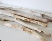 5 Driftwood Pieces -- Bulk Driftwood Bundle -- Natural Beach Wood Finds -- Drift Wood for Wall Hanging Wovens, Tapestry, Macrame, Quilt