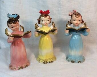 Vintage Angel Choir Wales Japan Lovely Set of 3