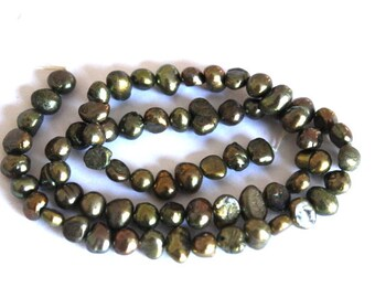 Forest Green Baroque Fresh Water Pearls