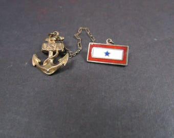 WW11 U S One Son Navy sterling sweetheart pin