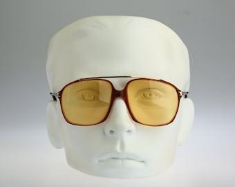 Rodier 1785K 250, Vintage square aviator sunglasses, 80s rare and unique / NOS