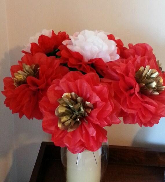 Tissue Paper Flowers Christmas Decor//Bridal//Weddings//New