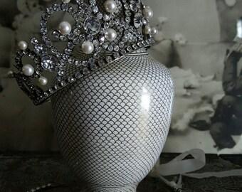 Crystal & Pearl Vintage Tiara