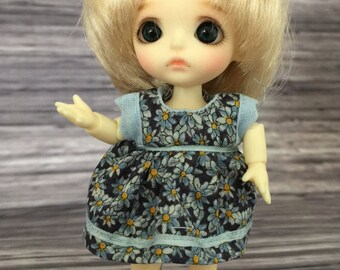 Dress and pants for BJD Lati White/Pukipuki or similar 10cm doll