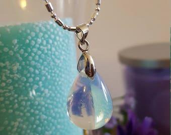 Moonstone Drop Necklace