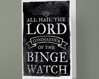 Binge Watch Greeting Card (A6 - 105 x 148mm)