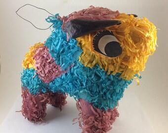 Bull Piñata mini vintage color  Mexican party favor South Western Decor adorable little paper mache animal El Toro