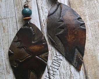 Leather Cowhide Earrings