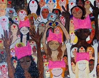 Notecards or Postcards of Women's March on Washington Painting