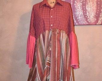 Elf Coat, Gypsy Dress, Recycled Clothing, Hippie Coat, Fairy Dress, Festival Coat, Upcycled Duster, Patchwork Coat, Pixie Coat, Boho Jacket