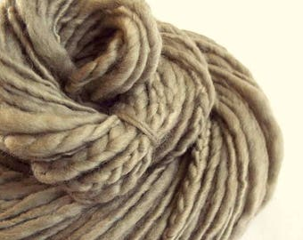 RESERVED LISTING-Grey thick and thin knitting yarn with braids, chunky merino knitting wool, plaited knitting wool, textured yarn