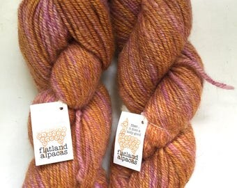 40% Off Alpaca Wool Hand Dyed Yarn Worsted 200 Yards