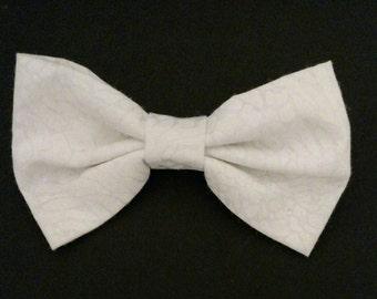 White Snake Fabric Bow