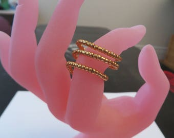 Golden spiral ring - Adjustable ring - ring woman - fancy-gift jewelry mother's day