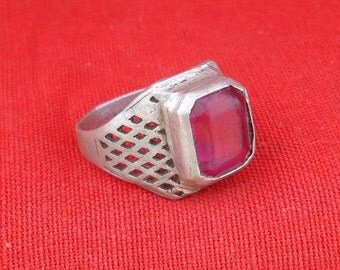 Ancient Bellydance Ethnic Tribal Old Silver Ring India