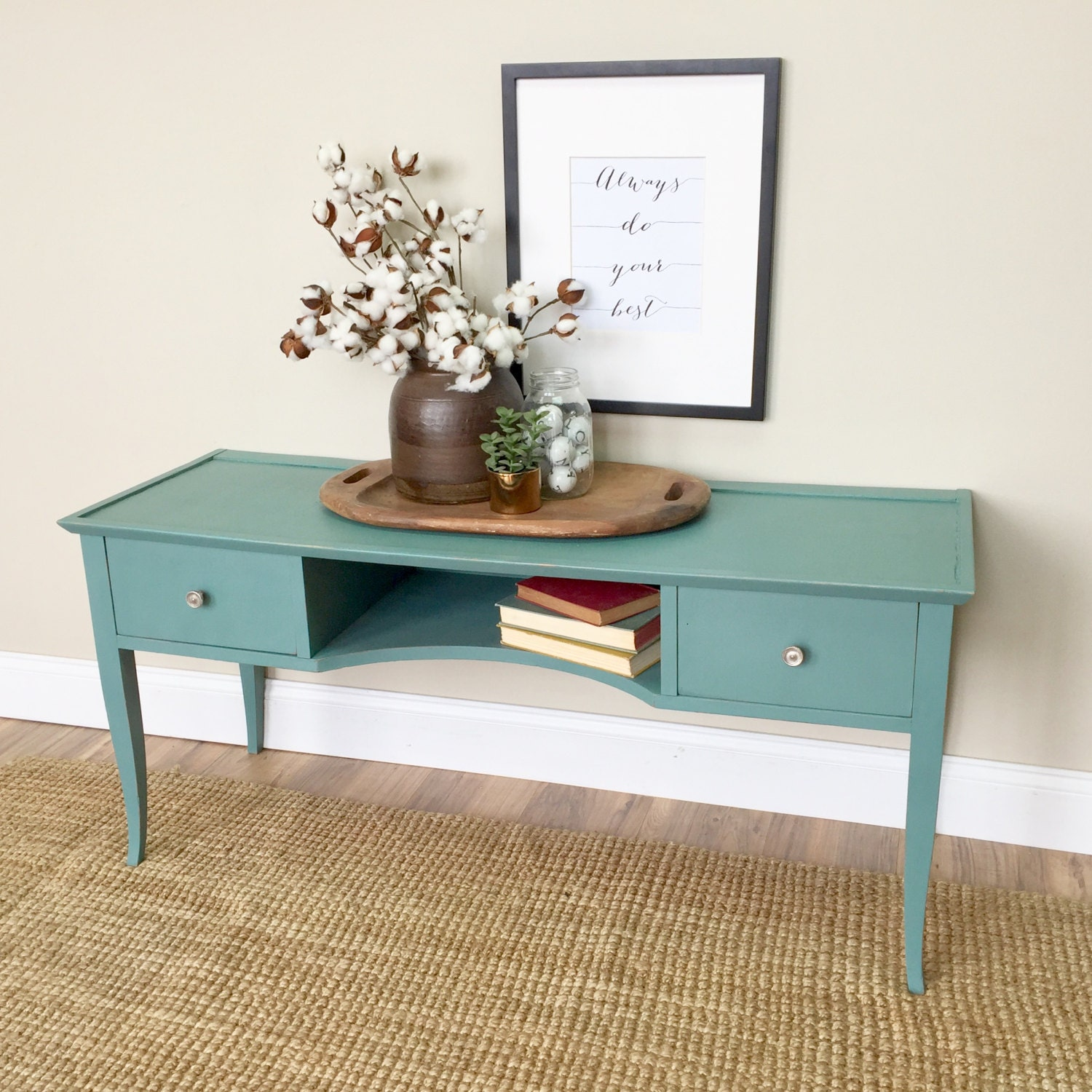 Console table behind